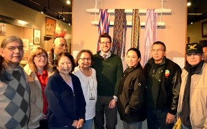 Eric with friends from the Meskwaki Tribal Museum after a public lecture in February 2015.